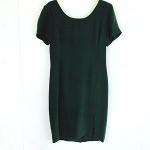 Dana Buchman 100% Black Silk Sheath Dress